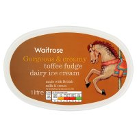 Waitrose toffee fudge dairy ice cream