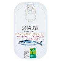 essential Waitrose mackerel in spicy tomato sauce