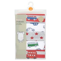 Waitrose 5PK BOYS BODYSUIT - TRAVELLER 12