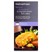 Waitrose Frozen 2 crayfish risotto fish cakes