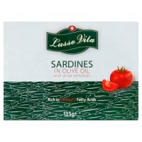 Lusso Vita Sardines Olive Oil with Sundried Tomato