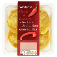 Waitrose chicken & chorizo quesadillas