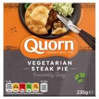 Quorn steak style pie