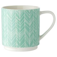 Waitrose Green Chevron Stacker Mug
