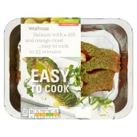 Waitrose Easy To Cook salmon with a dill & orange crust