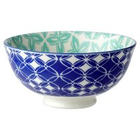 Waitrose Oriental Small Bowl Dark Blue