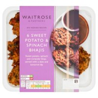 Waitrose Indian Sweet Potato and Spinach Bhajis