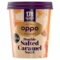Oppo ice cream salted caramel flavour with lucuma