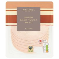Waitrose British roast turkey breast, 4 slices