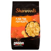 Sharwood's plain mini poppadoms