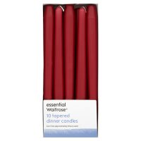 essential Waitrose red tapered candles