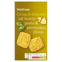 Waitrose All Butter Pesto & Parmesan Thins