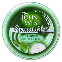 John West spreadables salmon yoghurt & mint