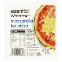 essential Waitrose Mozzarella cheese for pizza