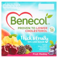 Benecol 4 low fat fruit medley yogurts