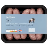 Waitrose 10 British Free Range pork casserole sausages