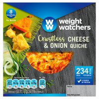 Weight Watchers crustless cheese & onion quiche