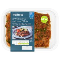 Waitrose 2 Wild Keta Salmon Fillets & Puttanesca