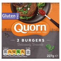 Quorn 2 gluten free quarter pounders