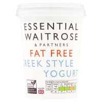 essential Waitrose fat free Greek style natural yogurt