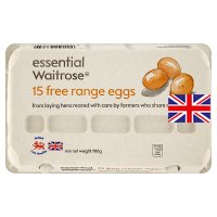 essential Waitrose 15 free range eggs