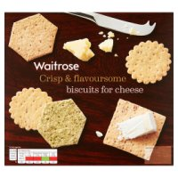 Waitrose biscuits for cheese selection