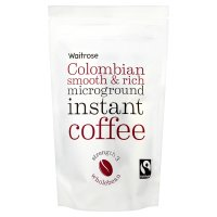 Waitrose Fairtrade Colombian instant microground coffee