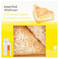 essential Waitrose bramley apple & cream turnovers