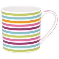 WR Fine pink stripe fine china mug