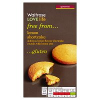 Waitrose LOVE life gluten free lemon shortcake