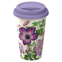 Kew clematis travel mug