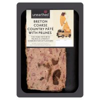 Unearthed Breton coarse country pâté with prunes