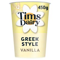 Tims Dairy Greek style yogurt with vanilla