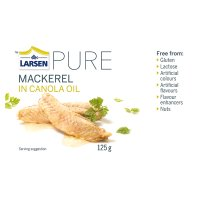 Larsen PURE mackerel in canola oil