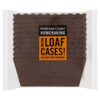 Waitrose Cooks' Homebaking mini loaf cake cases