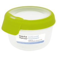 essential Waitrose 0.25 litre round food keeper