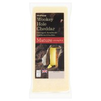 Waitrose cave aged Wookey Hole mature Cheddar cheese, strength 5