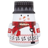 Walkers Wobbly Shortbread Stars Snowman Tin