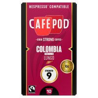 Cafépod Colombia Lungo 10 Capsules Strength 9