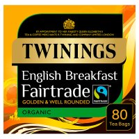 Twinings 80 tea bags fairtrade breakfast