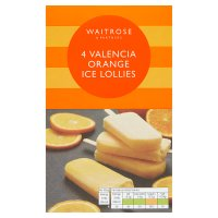 Waitrose 4 Valencia orange lollies