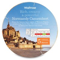 Waitrose Normandy mature Camembert cheese, strength 5