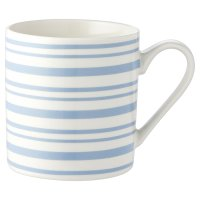 Waitrose Stripe Blue Mug