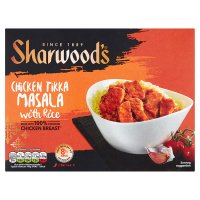 Sharwood's chicken tikka masala with rice