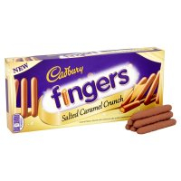 Cadbury fingers salted caramel crunch