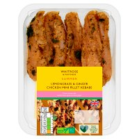 Waitrose British ginger & lime chicken skewers