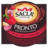 Sacla' Pronto stir-in pasta sauce with spicy pepper & smoked garlic