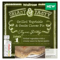 Waitrose grilled vegetable & goats cheese pie