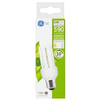 GE energy saving 590 lumen 11W E27 ES stick