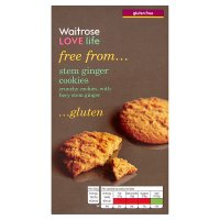 Waitrose LOVE life gluten free stem ginger cookies